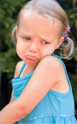 Toddler tantrums not getting own way