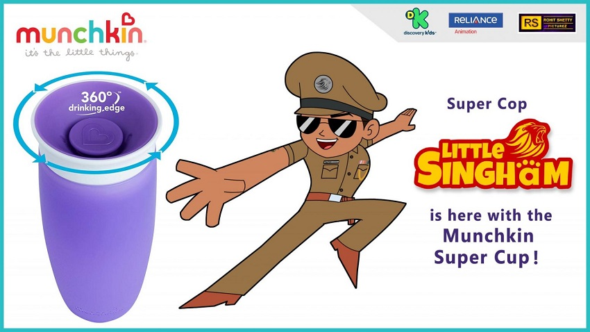 Super Cop Little Singham is here with his new perfect mealtime companion – Munchkin's Miracle 360° Sippy Cup